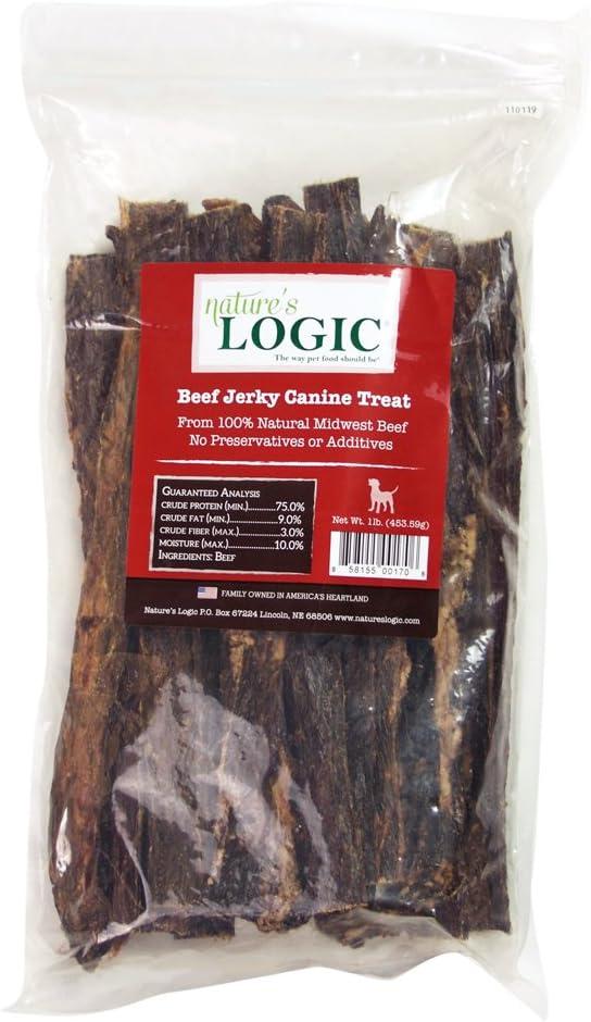 Nature'S Logic Beef Jerky Canine Treat, 1Lb