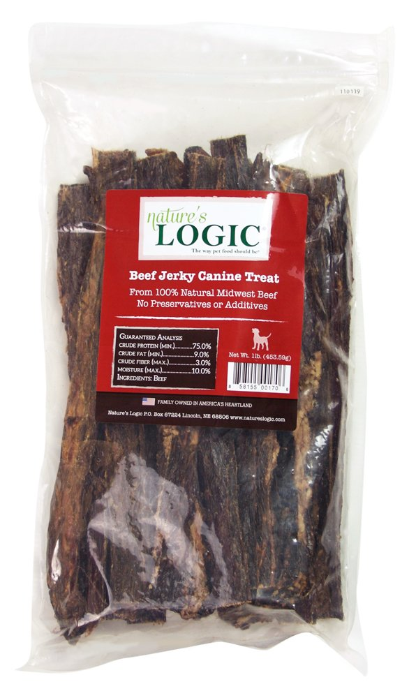 NATURE'S LOGIC Beef Jerky Canine Treat, 1lb