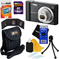 Sony Cyber-shot DSC-W800 20.1 MP Digital Camera with 5x Optical Zoom and Full HD 720p Video (Black) - International Version + 7pc Bundle 8GB Accessory Kit w/ HeroFiber® Ultra Gentle Cleaning Cloth Basic Intro Review Image
