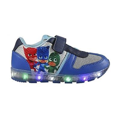PJ Masks Héroes en Pijamas 2200-2418 Zapatillas, Deportiva Con Luz, niño, Azul, Gatuno, Buhíta, Gecko (25): Amazon.es: Zapatos y complementos