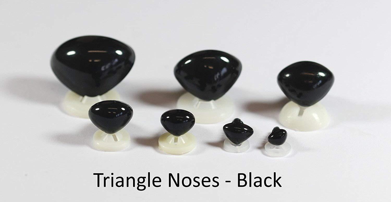 Celloexpress/® Schwarz, 7/x 5/mm, Plastik-R/ückseiten//–/Teddyb/är /& Weiches Spielzeug mit einer detaillierten Nasen Schwarz