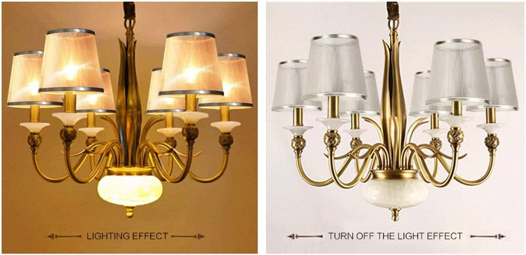 Ceiling Table Lamp Shade Transparent Gauze Clip On Candle Replacement Lampshade Gold