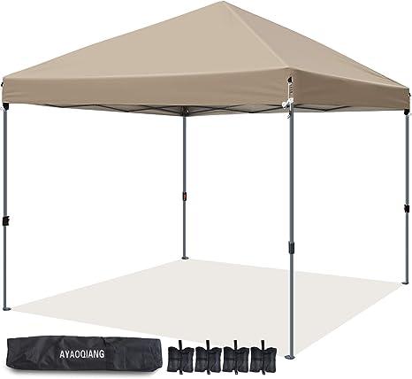 AYAOQIANG Carpa Plegable 3x3M, Carpas para Exteriores Pergolas de Jardin para Fiesta Eventos Bodas JardíN Terraza Camping Playa con 4pcs-Pack Pesos