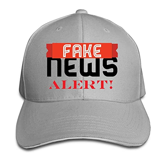 Image Unavailable. Image not available for. Color  Quzim Baseball Cap Polo  Safari Dad Hat Peaked Cap Fake News ... 2565289b08bb