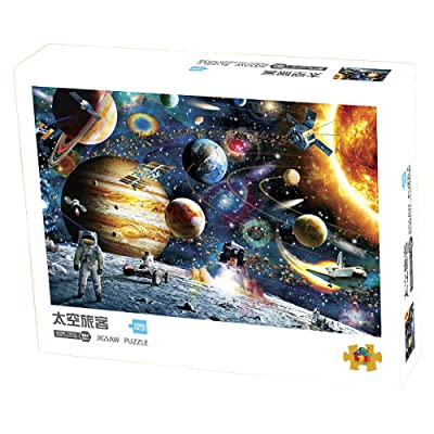 ANOVEL Puzzles for Adults Mini Jigsaw Puzzles 1000 Pieces Space Traveler Puzzles: Toys & Games