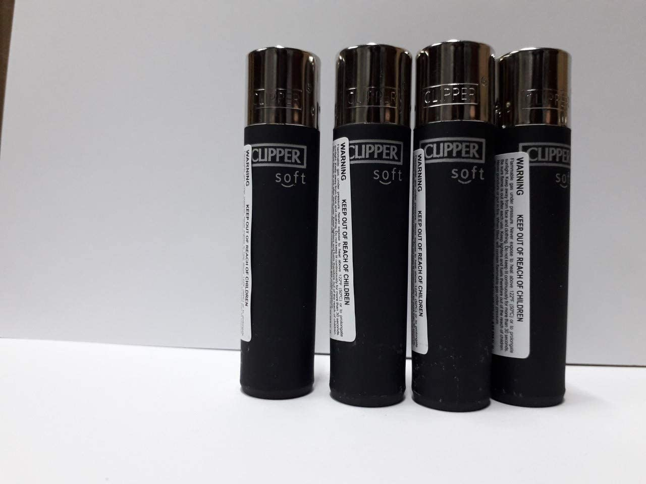 Clipper No. 26, Negro, Tacto Suave, Pack de 4 Encendedores: Amazon.es: Hogar