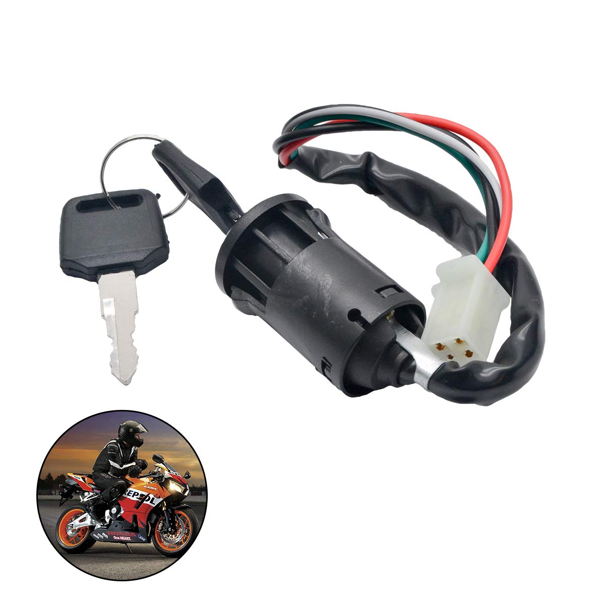 70 cc 110 cc 125 cc PIT Quad Dirt Bike ATV Dune Buggy 90 cc Sistema de encendido de bobina de cableado el/éctrico completo MASO para motocicletas de cross de 50 cc