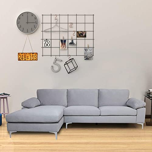 Knowlife L-Shaped Sectional Velvet Sofa