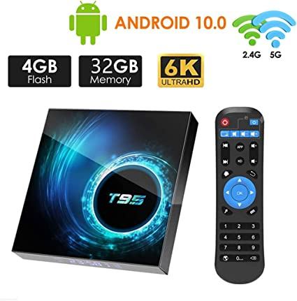 Android TV Box 10.0,HOMI T95 Android Box 4GB RAM 32GB ROM Allwinner H616 Quad-Core Soporte 6K 3D 2.4/5.0GHz WiFi 10/100M Ethernet DLNA HDMI 2.0 BT 5.0 Smart TV Box: Amazon.es: Electrónica