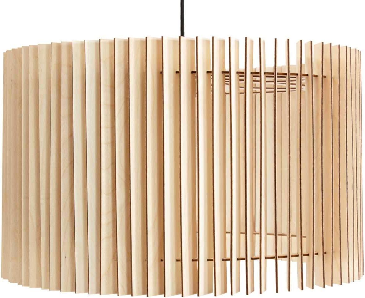 wodewa Pendelleuchte Holz Moderne Deckenleuchte Ronja Natur I Nachhaltige Deckenlampe Birkenholz Holzlampe höhenverstellbar LED E27: Amazon.de: Beleuchtung - Deckenleuchte Holz