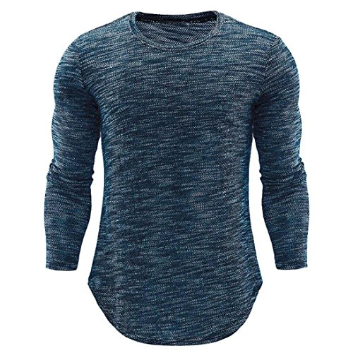 - Clearance Sale! Wintialy Fashion Personality Men's O Neck Casual Slim Long Sleeve Shirt Top Blouse