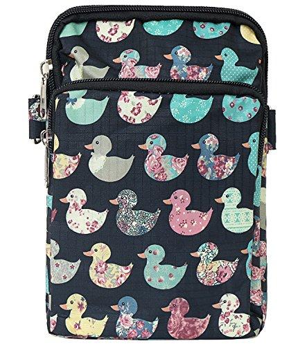 Mini Cross Pocket Duck Bag Shoulder Bag Lightweight ililily Strap Pattern Black Purse Body OqaBUx