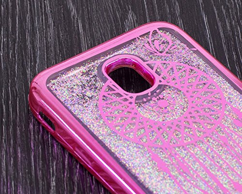 LuckyW Enchapado Caja de Bling for Samsung Galaxy J7 (2017) (European Version) TPU Silicone Transparente Cubierta de la Contraportada del Color del SuaveSuave Ligero Ultra delgado Delgado [Resistente  Atrapasueños