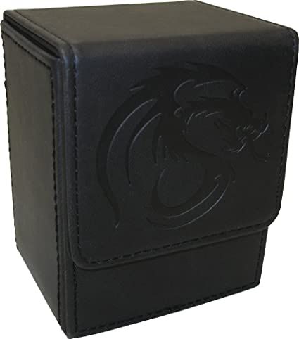 1x BCW GAMING LARGE DECK CASE BLACK Box Holds 100 Cards w//Divider 1-DCLG-BLK