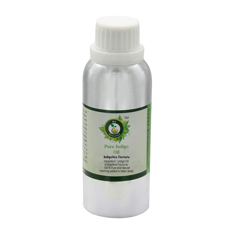 Indigo Oil   Indigofera Tinctoria   For Hair   For Body   For Massage   Pure Indigo Oil   100% Pure Natural   1250ml   42oz By R V Essential by R V Essential
