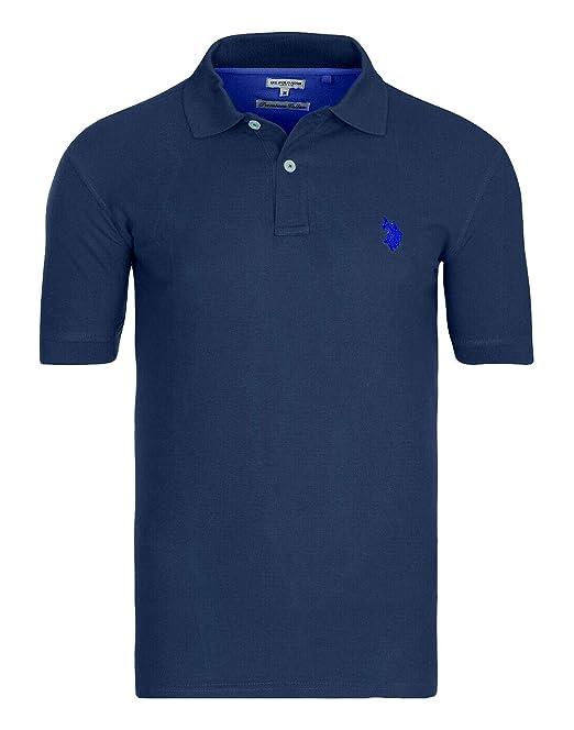 EE.UU. Polo ASSN. Polo Camiseta clásica para Hombre Azul Marino ...
