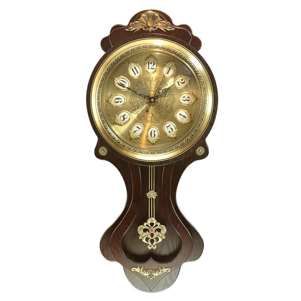 ALUPヨーロッパの木製の壁の時計の娯楽余暇の壁時計レトロな木時計中国のアンティークの吊りテーブル (色 : 2) B07F2543NB2