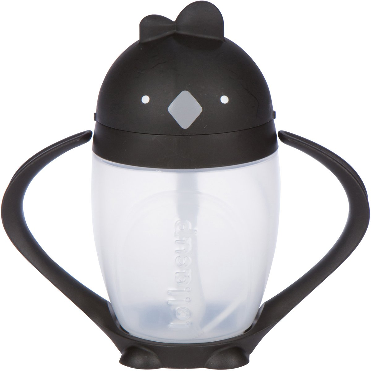 Lollaland Lollacup - Infant/Toddler Sippy Cup with Straw - Black
