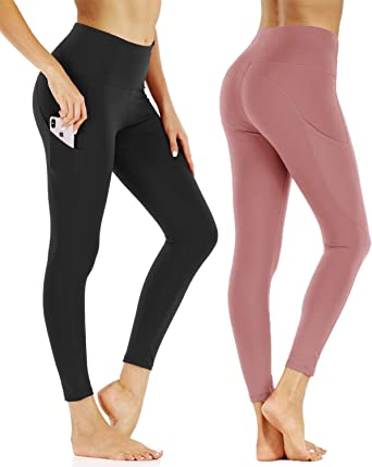 CCIT High Waist Yoga Pants Tummy Control Workout Pants for Women 7//8 Length Yoga Leggings 4 Way Stretch with Pockets