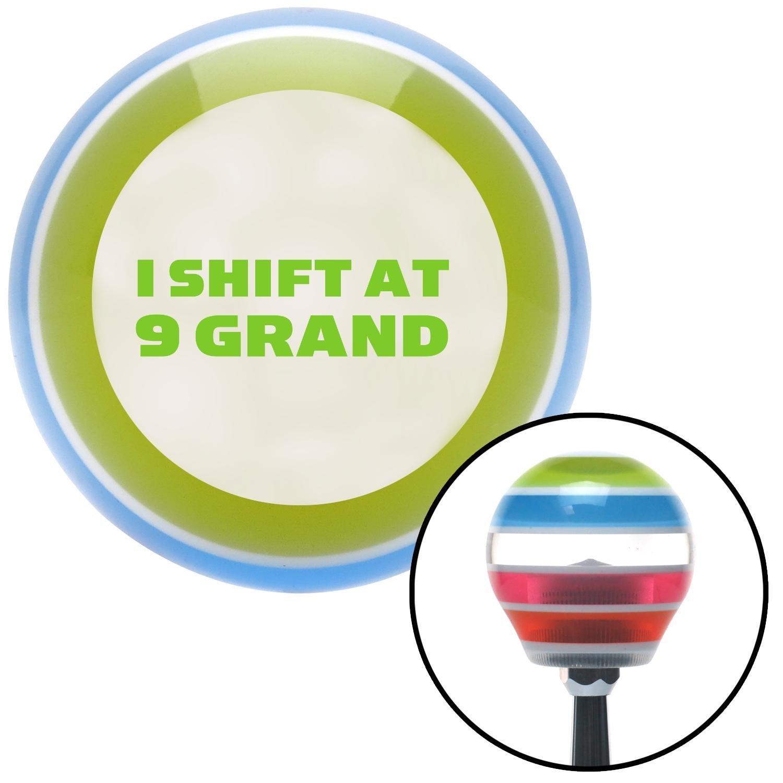 Green I Shift at 9 Grand American Shifter 137824 Stripe Shift Knob with M16 x 1.5 Insert