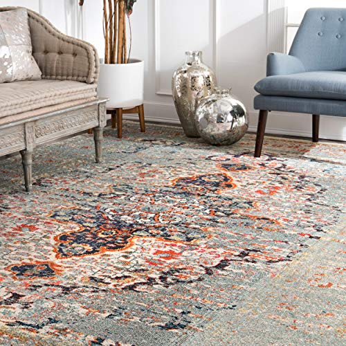 nuLOOM Vintage Distressed Persian Sarita Area Rug, 6