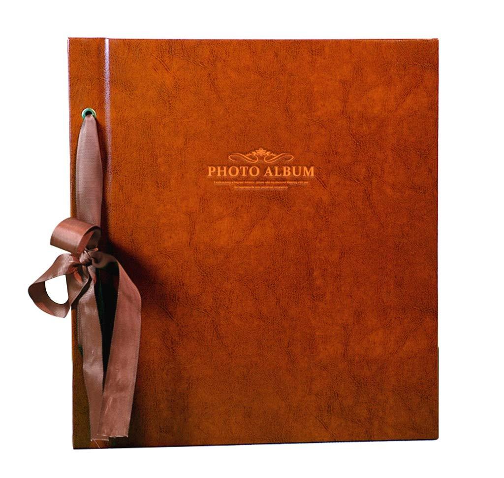 Large Capacity can Hold 1000 Photos Color : Coffee Color, Size : 32X35.8X6.7cm Interstitial Album PU Photo Album