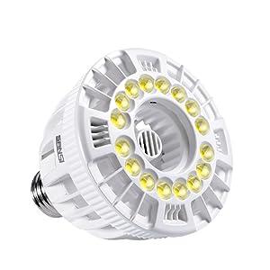 SANSI 15W LED Grow Light Bulb Full Spectrum Grow Lights for Indoor Plants, Plant Grow Light for Hydroponic Indoor Garden Succulent Veg Flower, E26 Plant Light Bulb Sunlight White, Full Cycle