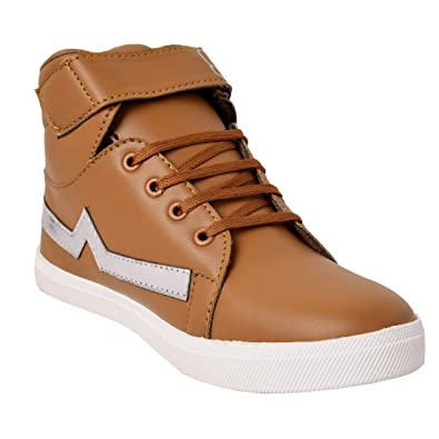 d413f48b0ec Ind Crown Kids Boys Synthetic Leather Boots Casual Sneaker Shoes  Amazon.in   Shoes   Handbags