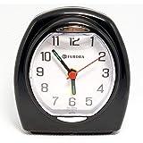 Relogio Despertador Quartz Decorativo Preto Eurora 2695-34