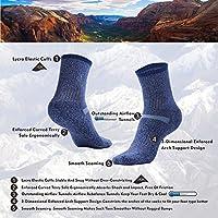 Calcetines de Rendimiento para entusiastas de los Deportes al Aire Libre para Hombres y Mujeres MEIKAN Calcetines de Senderismo Coolmax Trekking de Lana Merino