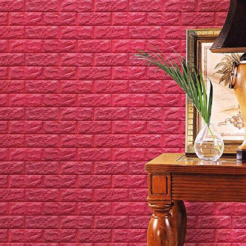 Butterfly Kisses Wallpaper (LUNIWEI PE Foam 3D Wallpaper Embossed Brick Stone DIY Wall Stickers (24