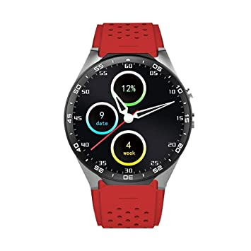 KOBWA Montres Connectées KW88 3G WIFI Smartwatch Phone Tout-en-un Bluetooth Smart Watch