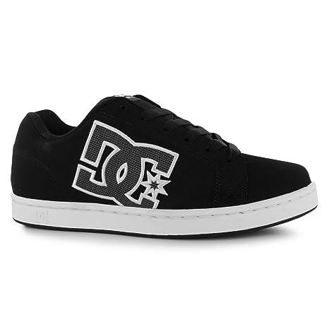 DC Serial Graffik Skate Zapatos para Hombre Negro/Gris Casual Zapatillas Zapatillas, Negro/