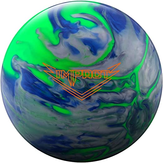 Ebonite 029744028187 Impact Bowling Ball, Lime Blue Silver, 15
