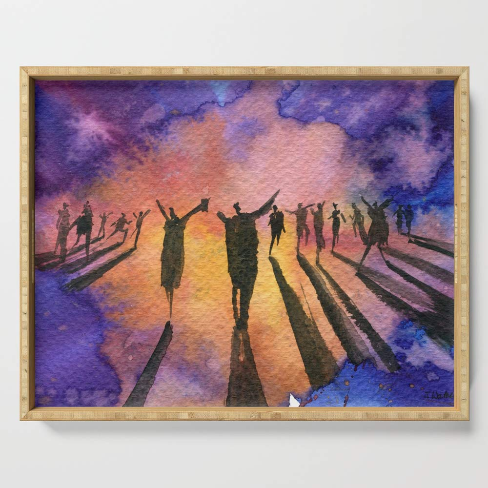 Society6 Serving Tray with handles, 18'' x 14'' x 1 3/4'', Dance by jonwarren