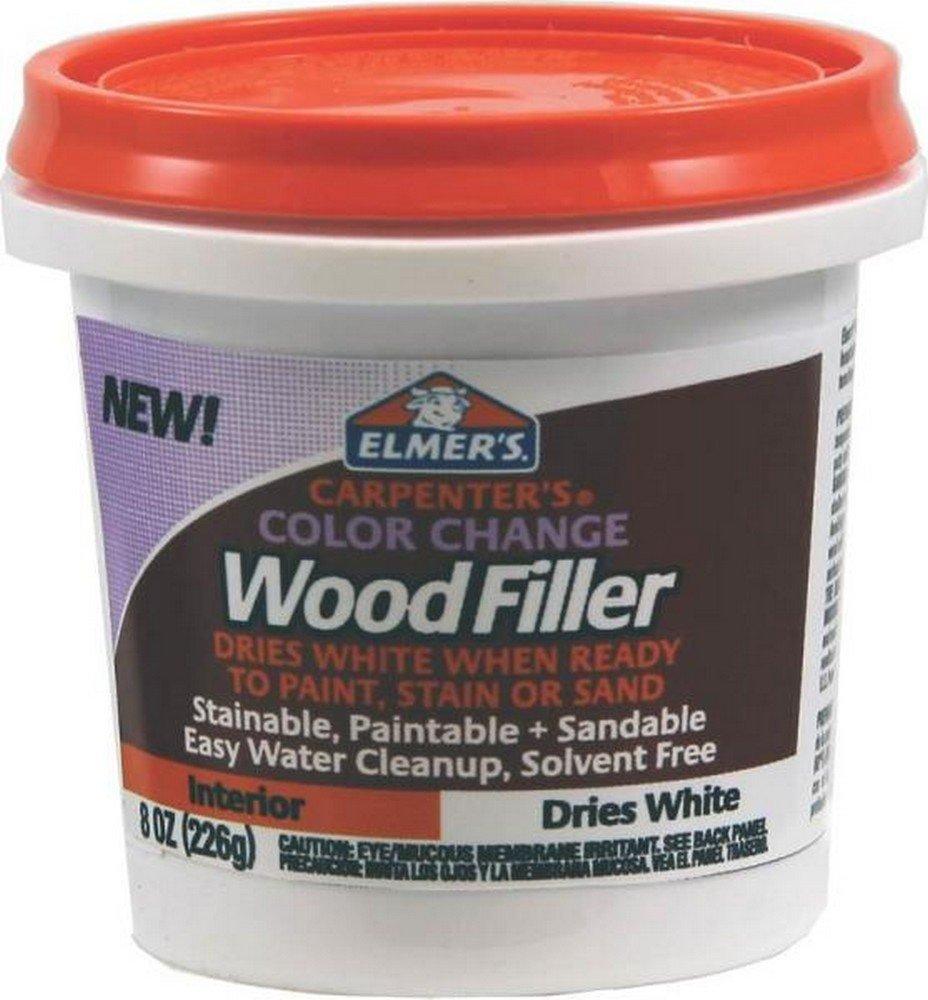 Elmer's E916 8 Oz White Carpenter's Color Change Wood Filler