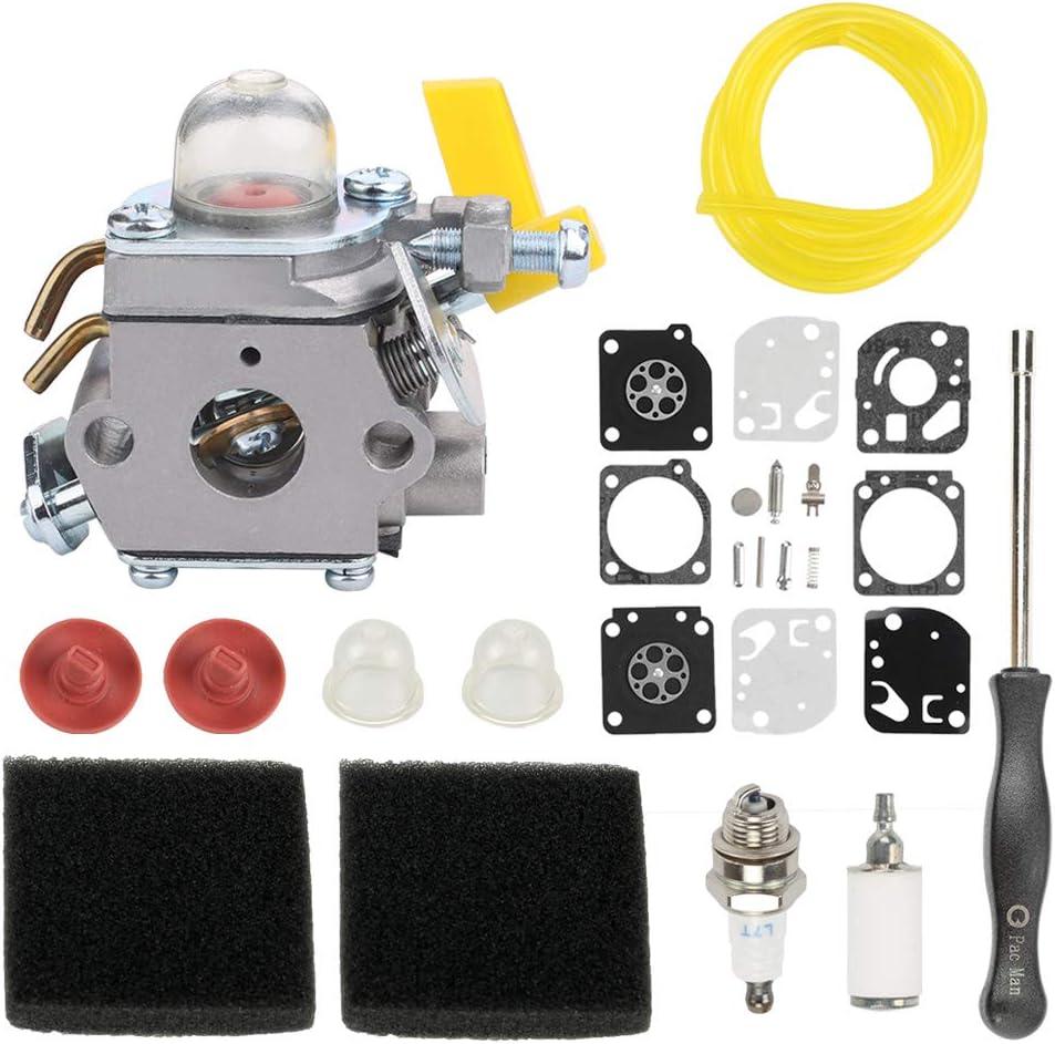Highmoor C1U-H60 Carburetor for Homelite Ryobi 30cc 26cc 25cc Trimmer Blower UT33600 UT33650 RY28100 RY28120 RY28121 RY28140 Replace 308054013 308054012 308054004