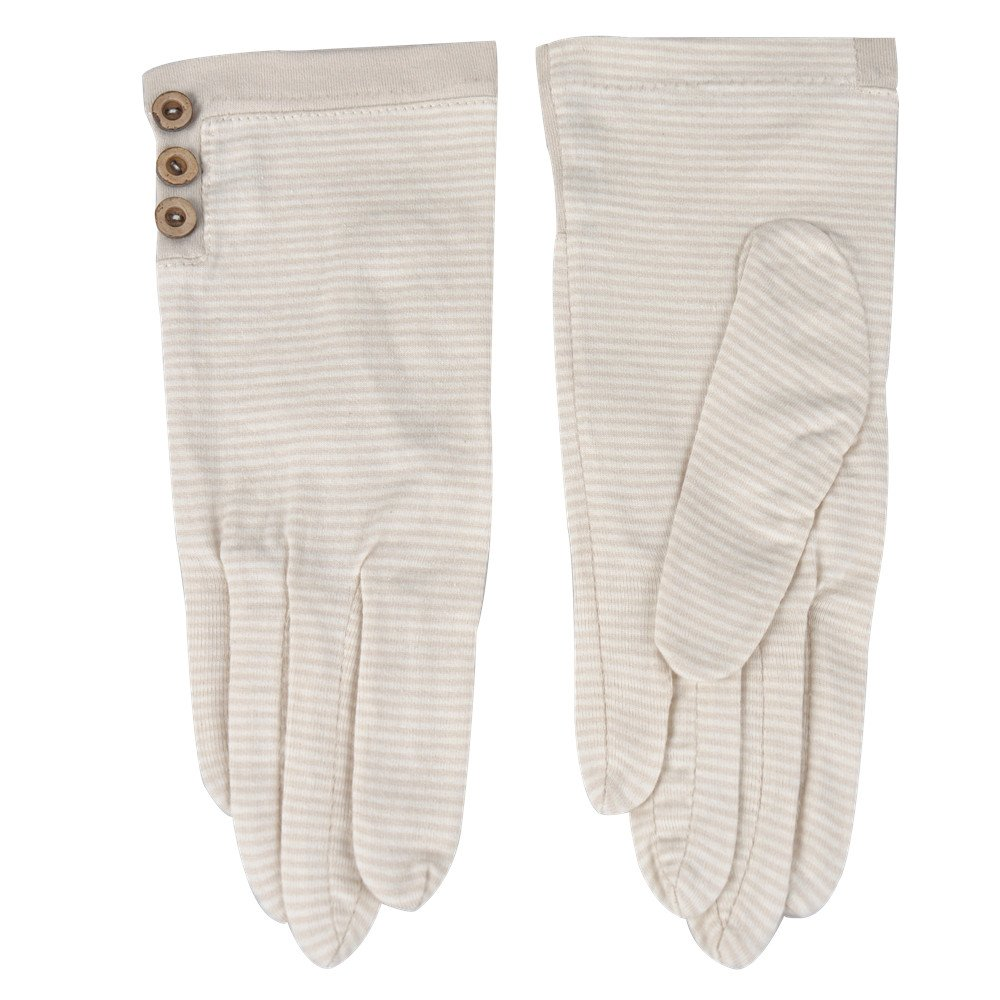 Kenmont Women UV Sun Protection Cotton Gloves for Outdoor Sports Cycling Hiking Biking Party Evening Decoration (Beige) KM-7003-36