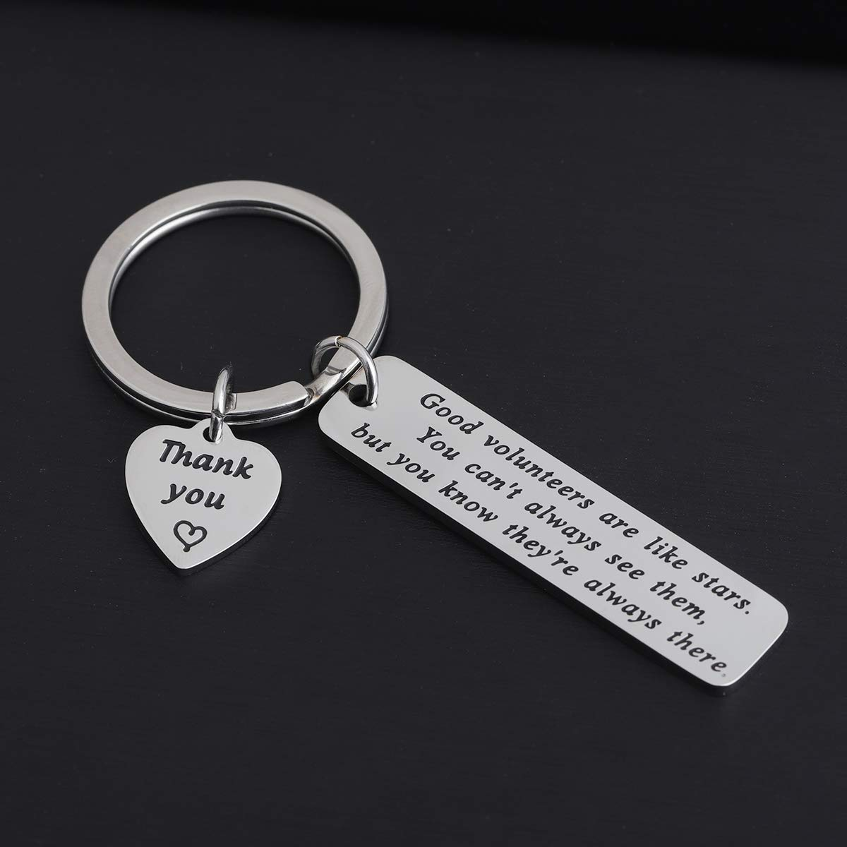 FOTAP Thank You Gift Good Volunteers are Like A Stars Keychain Volunteer Appreciation Gift