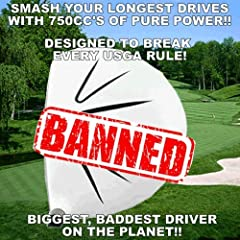 """#1 DISTANCE CUSTOM GOLF DRIVER Standard golf driver's are 460cc's -- 750cc's makes a huge difference. With this much MASS behind the ball, you will hit it further than ever. Our Sooolong 750cc Driver combines that with an Oversized """"Sweet Spo..."""