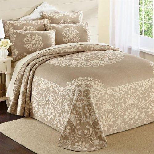 PDK Regency AR09329BK Opulence Cotton Jacquard Bedspread, King