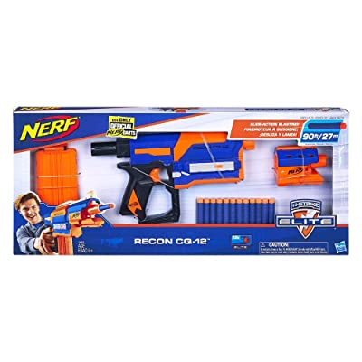 NERF Recon CQ-12 Elite Blaster with 12 Official Elite Darts: Toys & Games