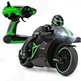 Hugine 4CH RC Motorcycle 2.4G Fast Speed 1:18 Remote Control Motorbike With Headlights Electric Vehicle Car Toy (Green)