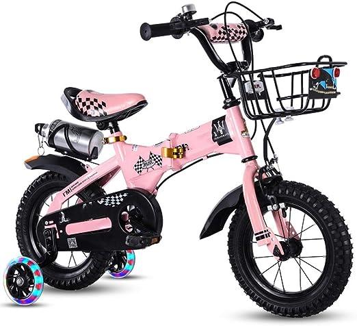 YUMEIGE Bicicletas Bicicleta Infantil Plegable, Bicicleta para ...
