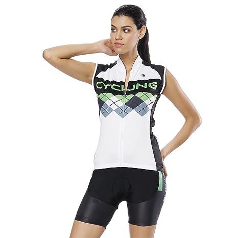 YGBH Ciclismo Jersey Conjunto de Mujer Traje de Secado ...