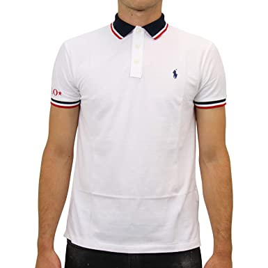 Ralph Lauren Custom Slim Fit Polo T Shirt White 710753174-002 (M ...