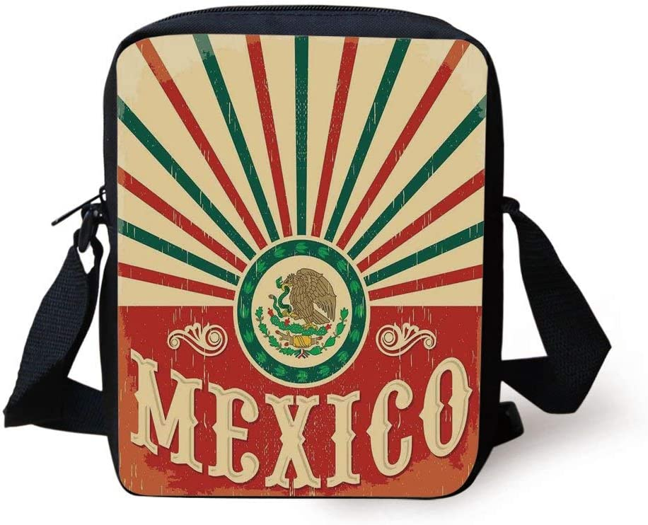 Ethnic Patterned Monkey Print Design Gym Bag