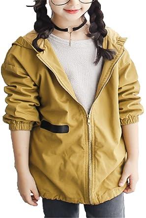 EMIN Mädchen Baby Kids Trenchcoat Frühling Herbst Jacken Mantel Outwear  Beiläufig Mit Kapuze V-Kragen 11532ec78f