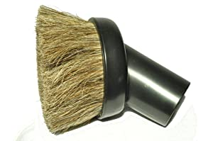 "Eureka Vacuum Cleaner Generic Dust Brush, 1 1/4"" fitting, horse hair bristles, color black"