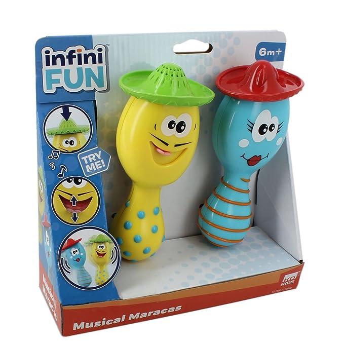 ZinZin Instruments S12860 - Maracas de juguete para bebés, color azul y amarillo: Amazon.es: Bebé